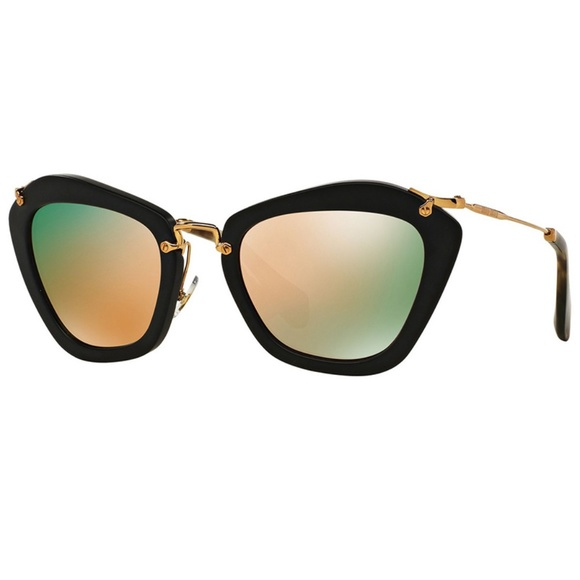 d71ba6c9dd5 Miu Miu Sunglasses Grey Gold Lens